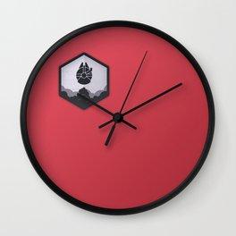 Rebel Alliance Charcoal Badge Wall Clock