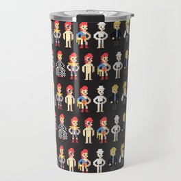 Bowie pixel characters Travel Mug