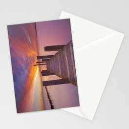 II - Seaside jetty at sunrise on Texel island, The Netherlands Stationery Cards