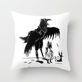 Garon, Queen Kikaan & Bateau -The Other Side of Eve Throw Pillow