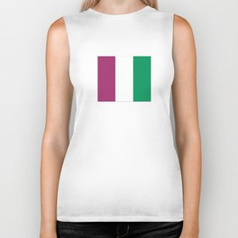 Flag of the suffragettes Biker Tank