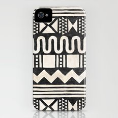 African Shapes - Black iPhone (4, 4s) Slim Case