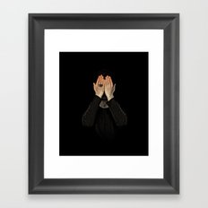 Eyes did not see, mind did not look Framed Art Print
