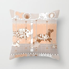 The Unpluged Amusement Park Throw Pillow