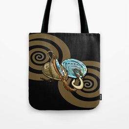 Abalone with Historic Maori Fishing Hooks Tote Bag