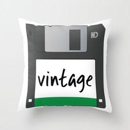 Vintage Floppy Disk Throw Pillow