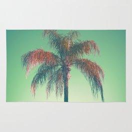 Red palm tree Rug