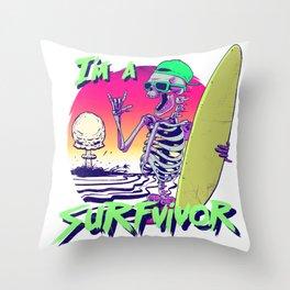 I'm Surfvivor Throw Pillow