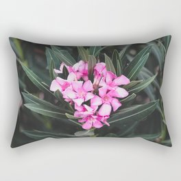 Pink Flower Rectangular Pillow