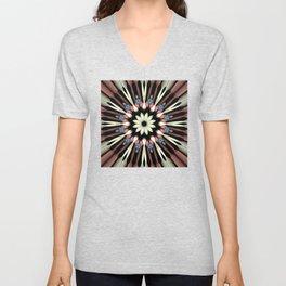 Abstract Flower Mandala Unisex V-Neck