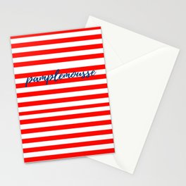 Pamplemousse with horizontal red stripes Stationery Cards