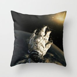 floating in the abyss Throw Pillow