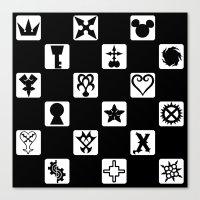 kingdom hearts Canvas Prints featuring Kingdom Hearts Grid by KewlZidane