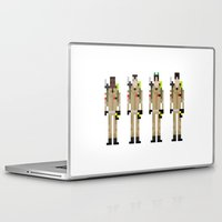 ghostbusters Laptop & iPad Skins featuring 8-bit Ghostbusters by MrHellstorm