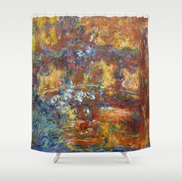 "Claude Monet ""The Japanese Footbridge"" Shower Curtain"