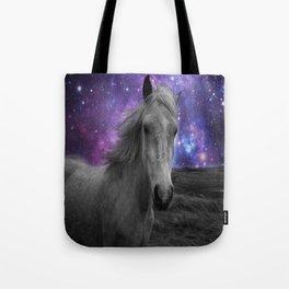 Horse Rides & Galaxy skies Tote Bag
