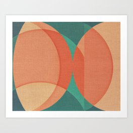 Autumn Waves Art Print