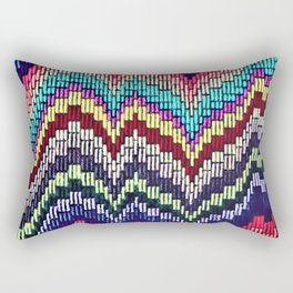 Bargello waves - peace, love and rainbows Rectangular Pillow