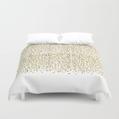 Gold Confetti Sparkle and Shine Duvet Cover