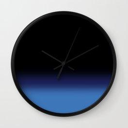 Blacken the blues Wall Clock