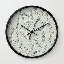 Rosemary Sketch Pattern Wall Clock