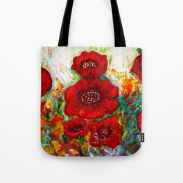 RED POPPIESS Tote Bag
