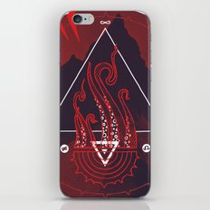 Mountain of Madness (red) iPhone & iPod Skin