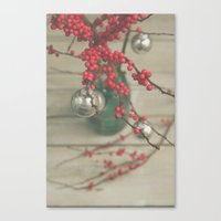 holiday Canvas Prints featuring Holiday by Olivia Joy StClaire