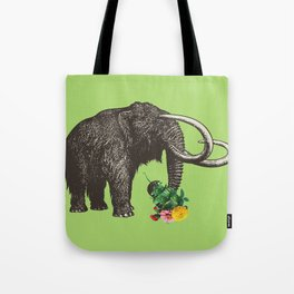 A Mammoth in Love - Lime Tote Bag
