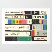 american psycho Art Prints featuring American Psycho by r054