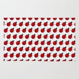 Ladybugs Pattern-White Rug