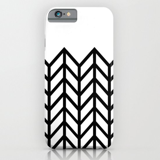 BLACK & WHITE LACE CHEVRON iPhone & iPod Case