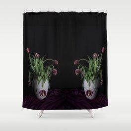 Tulips in vase Shower Curtain