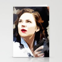peggy carter Stationery Cards featuring Peggy Carter by Ms. Givens