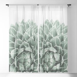 Succulent splendour Sheer Curtain
