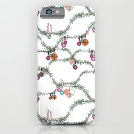 Winter holiday kitsch iPhone Case