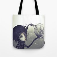 edward scissorhands Tote Bags featuring Edward Scissorhands by Antonio Lorente