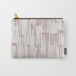 Simply Bamboo Brushstroke Lunar Gray on Clay Pink Carry-All Pouch