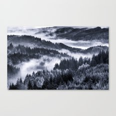 Misty Forest Mountains Canvas Print