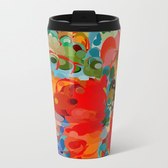 color bubble storm Metal Travel Mug