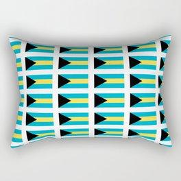flag of Bahamas – Nassau,Bahamian,Bahamianese,Junkanoo,Regattas Rectangular Pillow