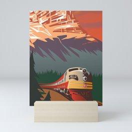 RETRO TRAIN TRAVEL POSTER Mini Art Print