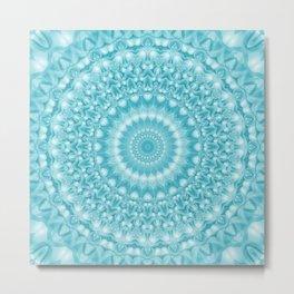 Caribbean Blue Mandala Metal Print