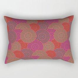 Australian Outback Circles Rectangular Pillow