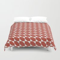 orange pattern Duvet Covers featuring Orange Pattern by Caite Schultz