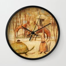 The Tortoise and the Beetle Wall Clock