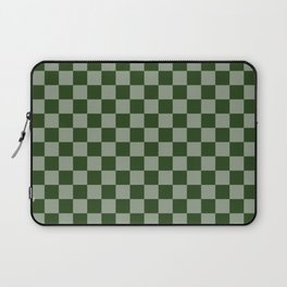 Large Dark Forest Green Checkerboard Pattern Laptop Sleeve