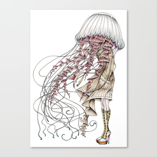Shroom me up, Jelly Canvas Print