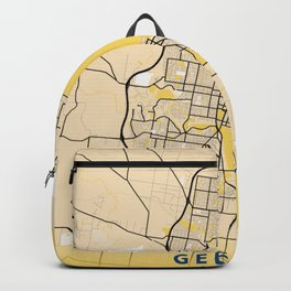 Geelong Yellow City Map Backpack