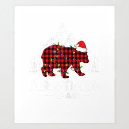 Brother Bear Christmas Pajama Red Plaid Matching Family T-Shirt Art Print